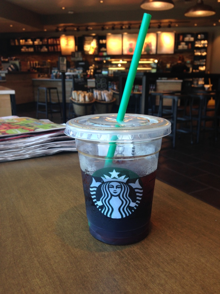 Cold Brewed Starbucks - my first ever.